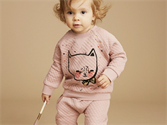 Soft Gallery Alexi sweatshirt gattino misty rose med katt