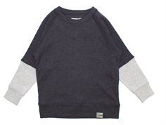 Mads Nørgaard Steltino blus charcoal melange/heather gray