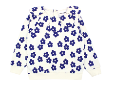 Mini Rodini Blossom sweatshirt med krage off white