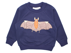 Mini Rodini sweatshirt flying bats marinblå