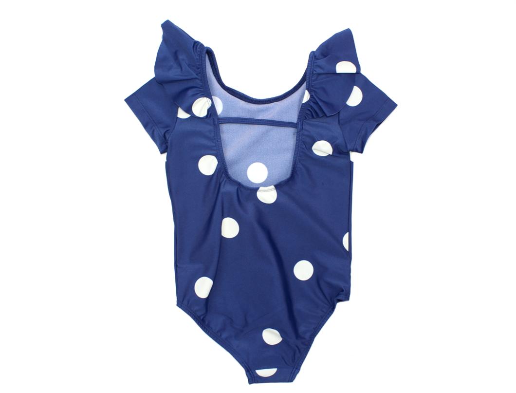 Mini Rodini baddräkt frill dot marinblå UV 4ade0b993955a