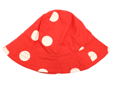 Mini Rodini solhatt dot red
