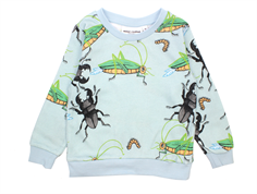 Mini Rodini sweatshirt insects ljusblå