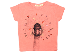 Soft Gallery Pilou t-shirt peach pink crowned