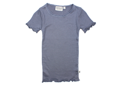 Wheat rib t-shirt grisaille spets