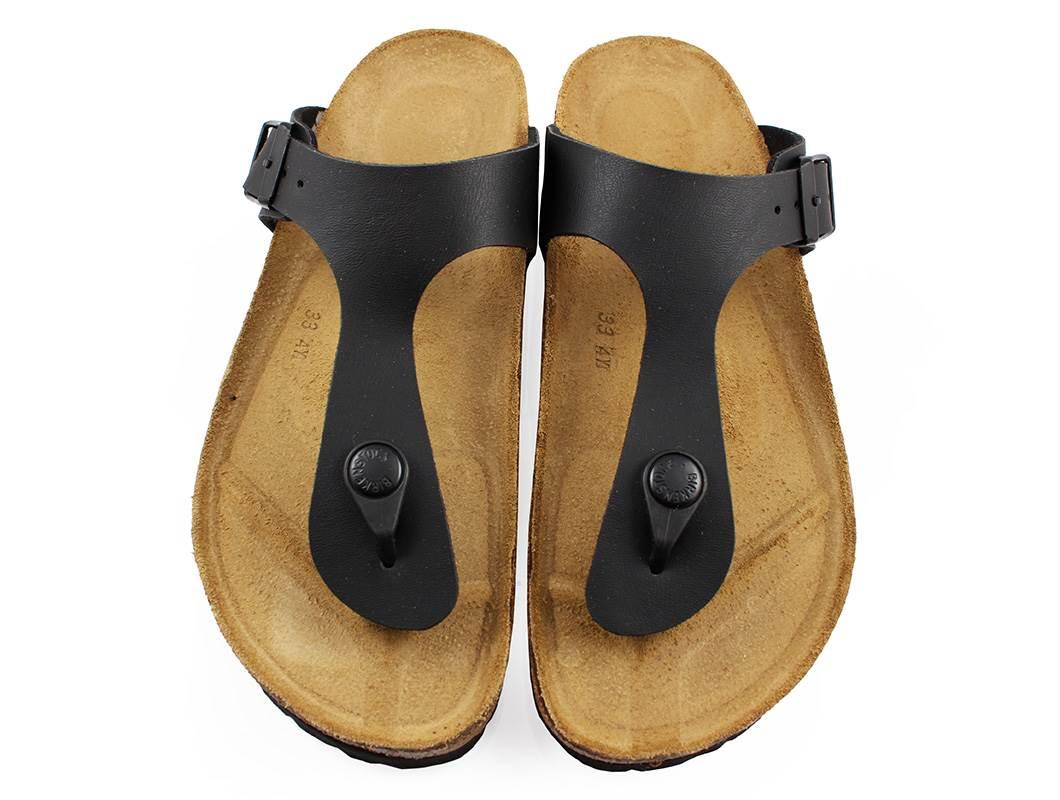 photos officielles bb4de 3877e Birkenstock Gizeh sandal svart med spänne (medium-bred 35-39)